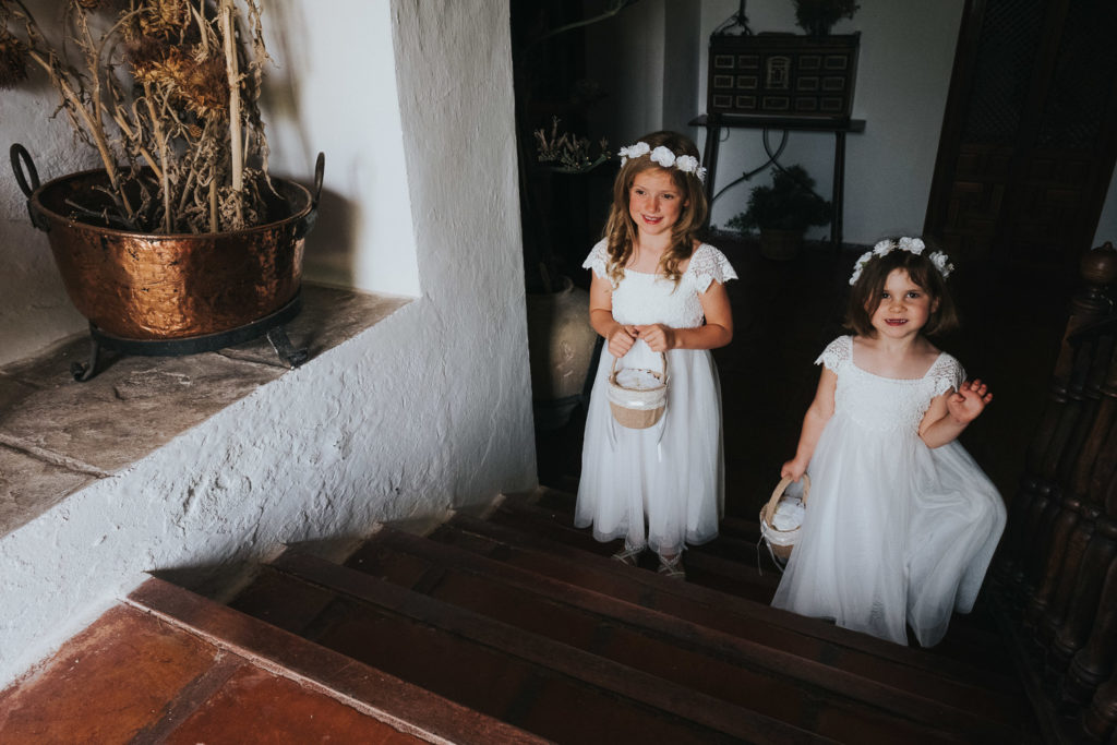 flower girls at jerez wedding photographer